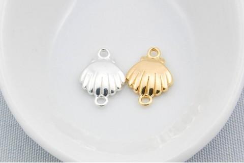 .925 Sterling Silver Sea Shell Charm Pendant